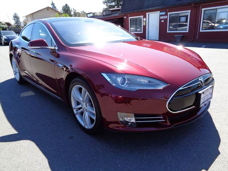 2012 TESLA MODEL S SIGNATURE 4DR LIFTBACK burgandy abs - 4-wheel air filtration airbag deactiva