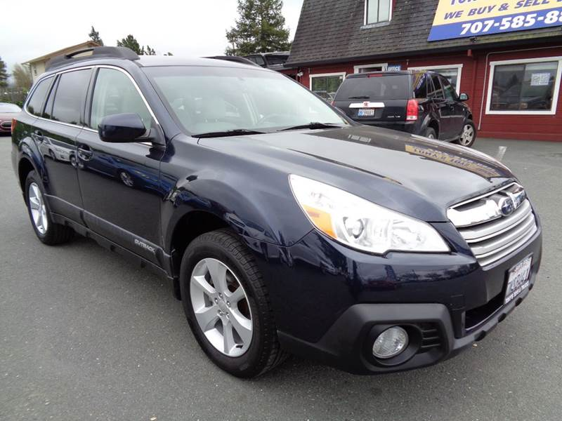 2013 SUBARU OUTBACK 25I PREMIUM AWD 4DR WAGON CVT blue paddle shifters 2-stage unlocking doo