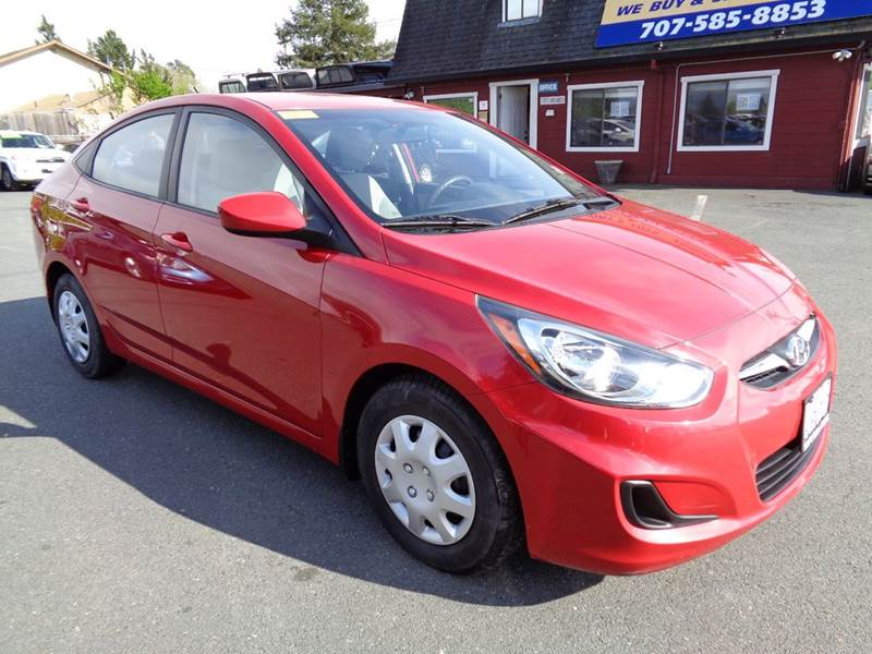 2012 HYUNDAI ACCENT GLS 4DR SEDAN red new tires 65855 miles abs - 4-wheel active head res