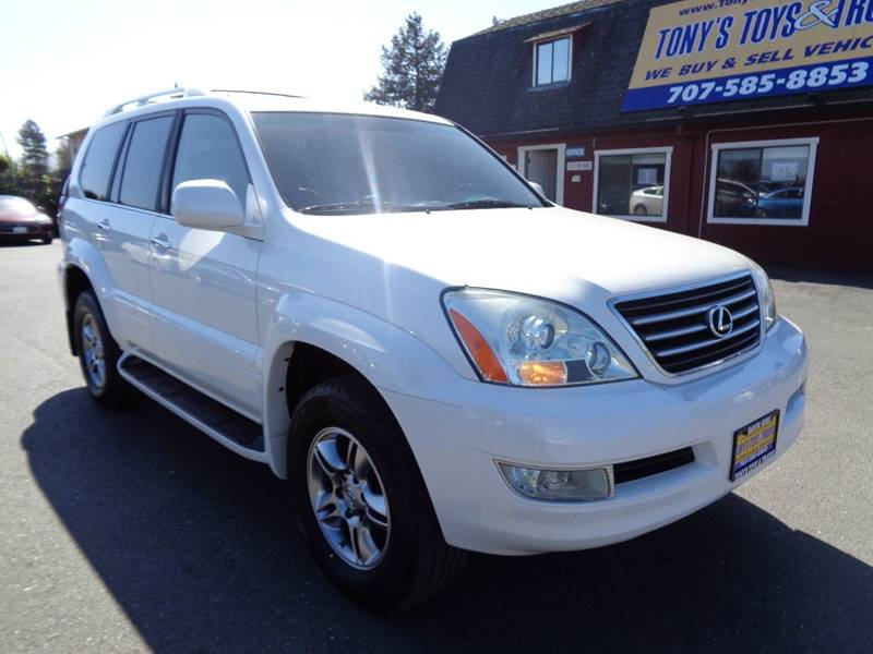 2008 LEXUS GX 470 BASE AWD 4DR SUV white new tires 3rd row seating navi 2-stage u