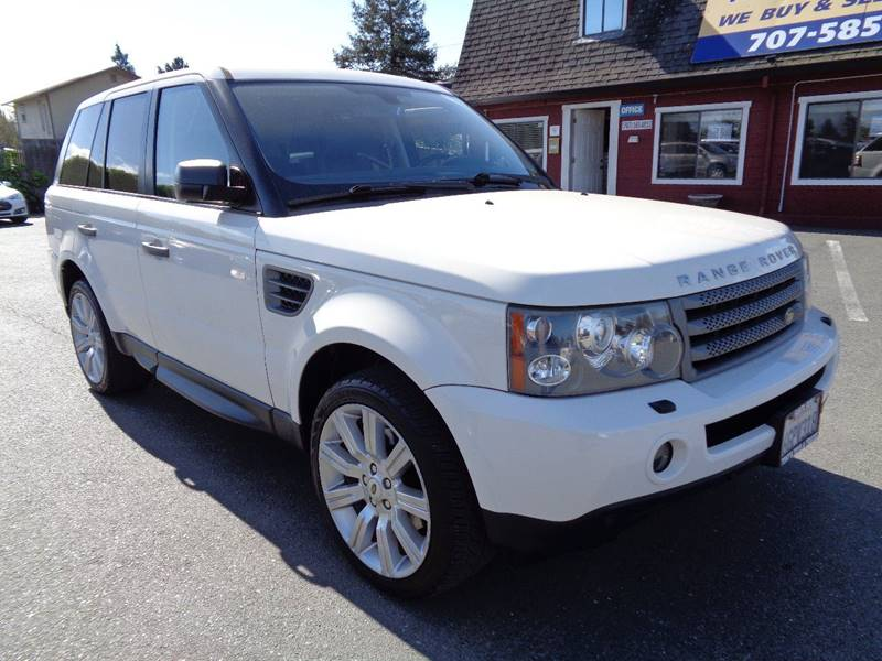 2009 LAND ROVER RANGE ROVER SPORT HSE 4X4 4DR SUV W LUXURY PACKAG white clean suv door han