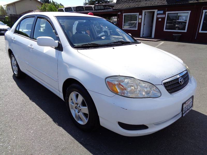 2006 TOYOTA COROLLA LE 4DR SEDAN WAUTOMATIC white new tires air filtration center console