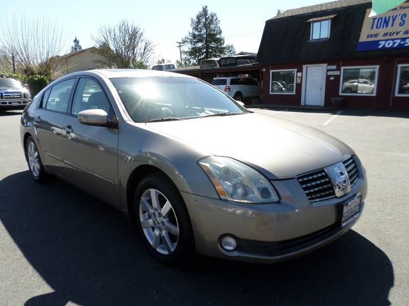 2004 NISSAN MAXIMA 35 SL 4DR SEDAN champagne new tires front air conditioning front air c
