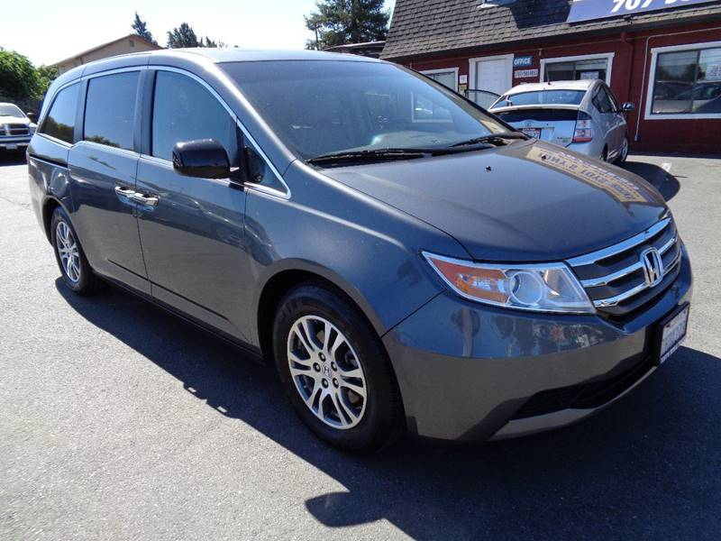 2012 HONDA ODYSSEY EX L 4DR MINI VAN gray new tires8 passanger mini-van door handle color