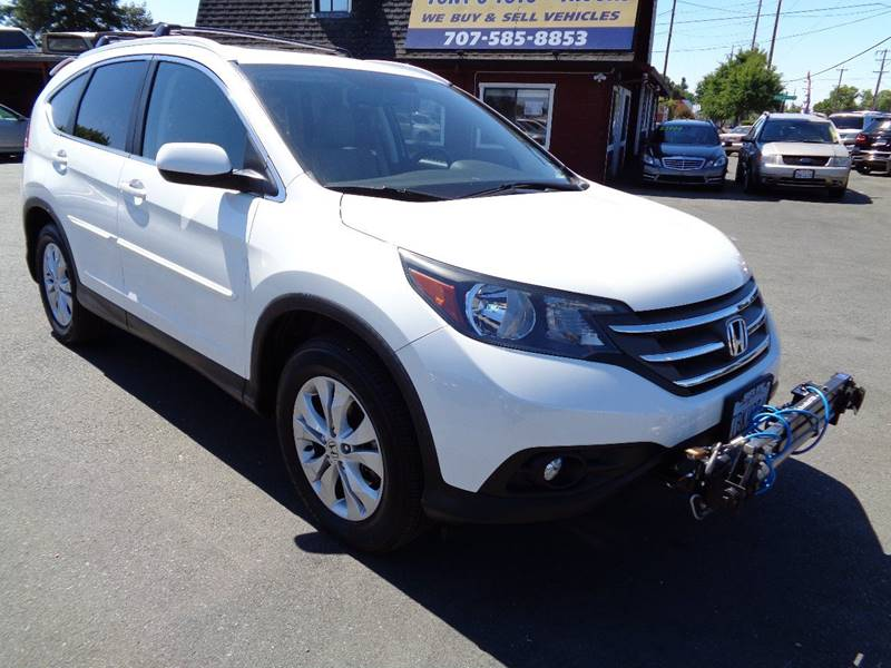 2013 HONDA CR-V EX L WNAVI AWD 4DR SUV white ready to be tow behind your rv only 38272 mil