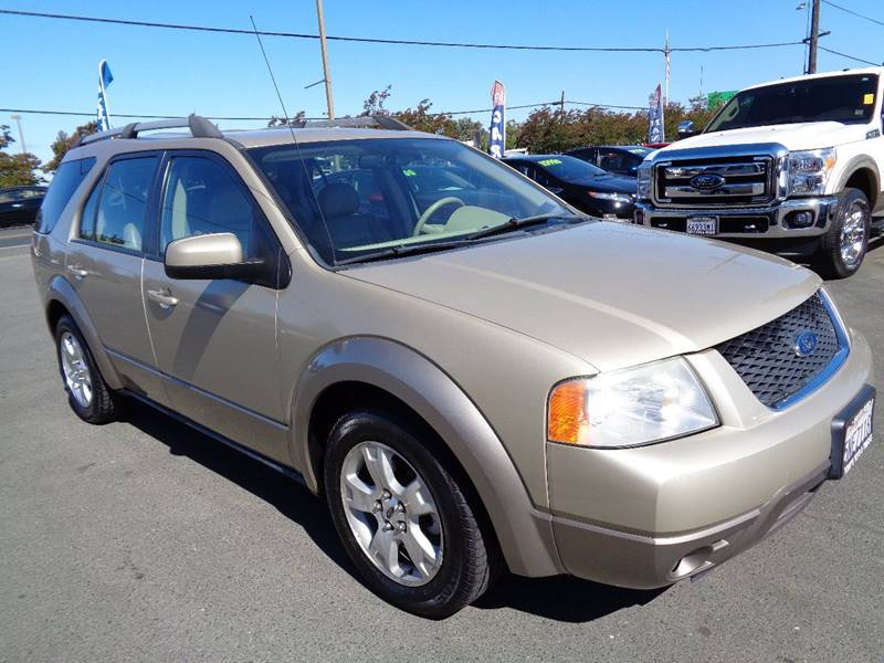 2005 FORD FREESTYLE SEL 4DR WAGON gold 3rd row seating front air conditioning front air c
