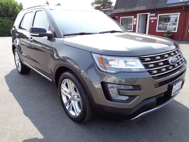 2016 FORD EXPLORER XLT 4DR SUV gray one owner vehicle7 pass suvnavi exhaust - dual t