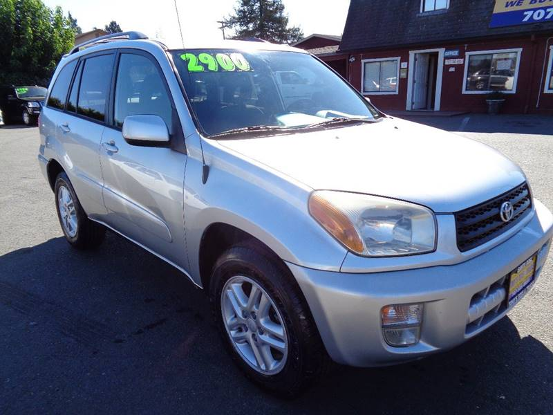 2002 TOYOTA RAV4 BASE 2WD 4DR SUV silver one owner vehicle new tires center console po