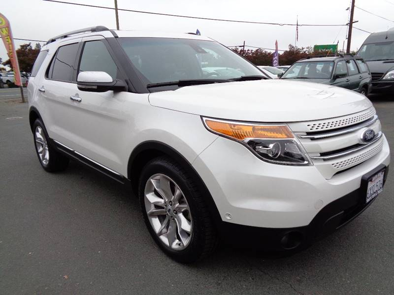 2013 FORD EXPLORER LIMITED AWD 4DR SUV white one owner suv new tires exhaust - dual t