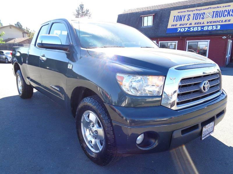 2007 TOYOTA TUNDRA LIMITED 4DR DOUBLE CAB SB 47L green limited new tires picku