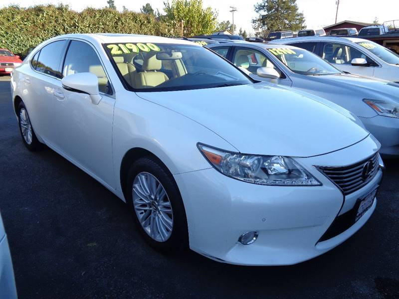 2013 LEXUS ES 350 BASE 4DR SEDAN white new tires exhaust - dual tip front bumper color - b
