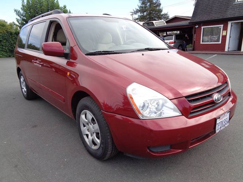 2006 KIA SEDONA LX 4DR MINI VAN red 7 pass mini-vannew tires floor mat material - carpe