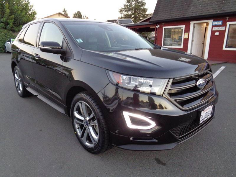 2015 FORD EDGE SPORT AWD 4DR CROSSOVER black new tires exhaust - dual t