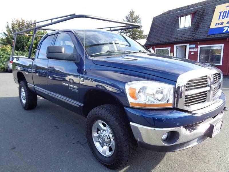 2006 DODGE RAM PICKUP 2500 SLT 4DR QUAD CAB 4WD SB blue 6sp manual4x4