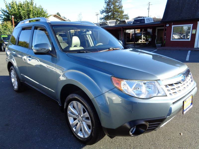 2012 SUBARU FORESTER 25X TOURING AWD 4DR WAGON lt green one owner suabru