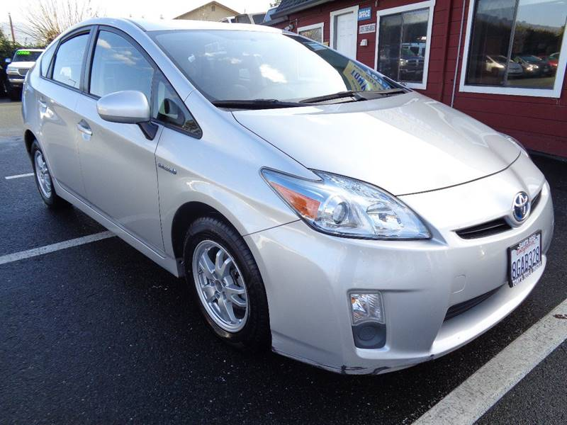 2010 TOYOTA PRIUS II 4DR HATCHBACK silver one owner vehicle mirror colo