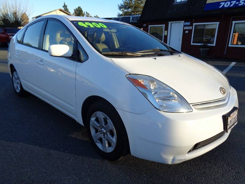 2004 TOYOTA PRIUS BASE 4DR HATCHBACK white one owner vehicle rear spoiler