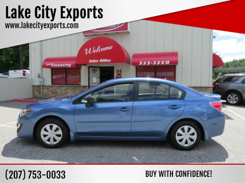 2016 Subaru Impreza for sale at Lake City Exports - Lewiston in Lewiston ME