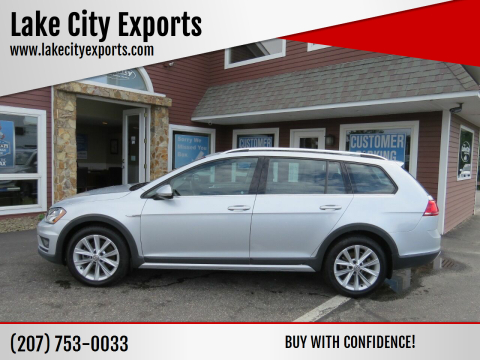 2017 Volkswagen Golf Alltrack for sale at Lake City Exports in Auburn ME