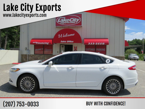 2015 Ford Fusion for sale at Lake City Exports in Auburn ME