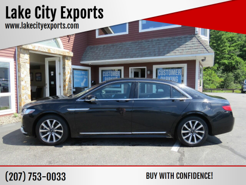 2017 Lincoln Continental for sale at Lake City Exports in Auburn ME