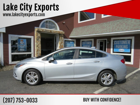 2016 Chevrolet Cruze for sale at Lake City Exports in Auburn ME