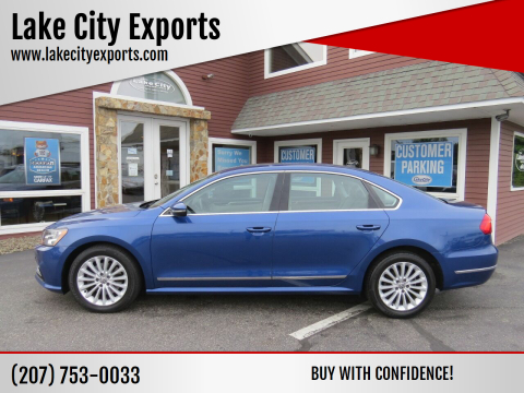 2016 Volkswagen Passat for sale at Lake City Exports in Auburn ME