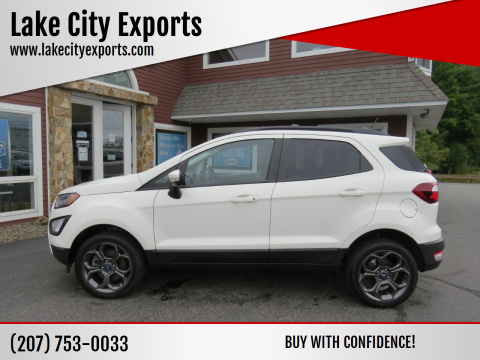 2018 Ford EcoSport for sale at Lake City Exports in Auburn ME