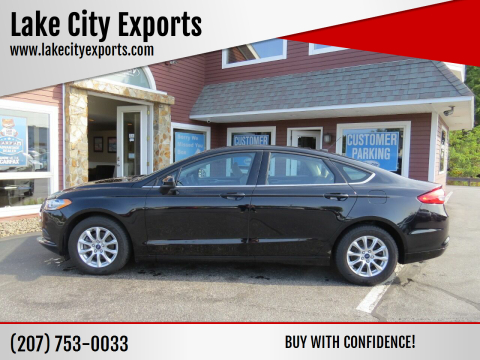 2017 Ford Fusion for sale at Lake City Exports in Auburn ME