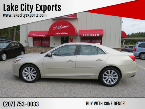 2015 Chevrolet Malibu for sale at Lake City Exports in Auburn ME
