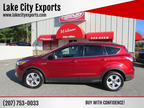 2015 Ford Escape for sale at Lake City Exports in Auburn ME
