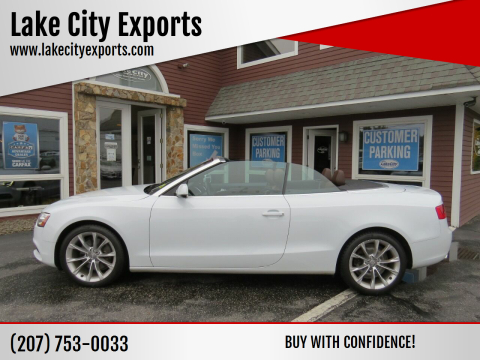 2014 Audi A5 for sale at Lake City Exports in Auburn ME