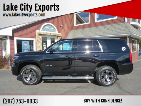 2015 Chevrolet Tahoe for sale at Lake City Exports in Auburn ME