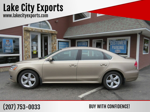 2015 Volkswagen Passat for sale at Lake City Exports in Auburn ME