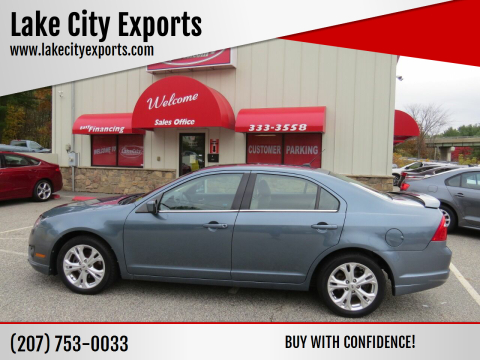 2012 Ford Fusion for sale at Lake City Exports - Lewiston in Lewiston ME