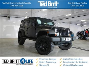 2012 Jeep Wrangler Unlimited for sale in Chantilly, VA