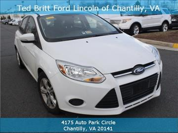 2014 Ford Focus for sale in Chantilly, VA