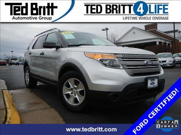 2014 Ford Explorer for sale in Chantilly, VA