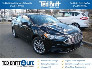 2017 Ford Fusion Hybrid for sale in Chantilly, VA