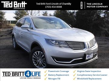2016 Lincoln MKX for sale in Chantilly, VA