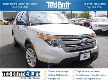 2015 ford explorer for sale in chantilly va - Ford Explorer 2015