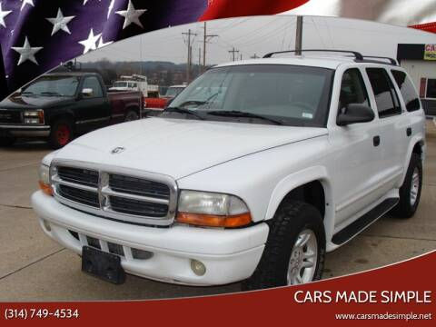 2002 Dodge Durango SLT for sale at Cars Made Simple in Union MO