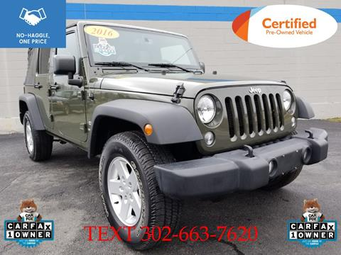 2016 Jeep Wrangler Unlimited for sale in Smyrna, DE