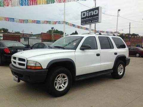 2003 Dodge Durango for sale at Dino Auto Sales in Omaha NE