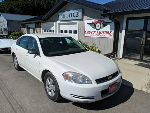2007 Chevrolet Impala for sale at CRUZ'N MOTORS in Spirit Lake IA