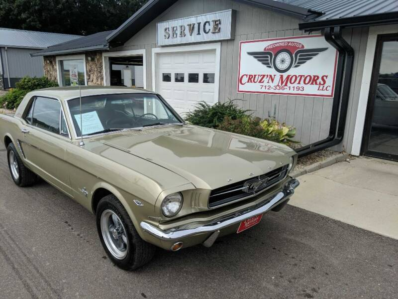 1965 Ford Mustang for sale at CRUZ'N MOTORS - Classics in Spirit Lake IA