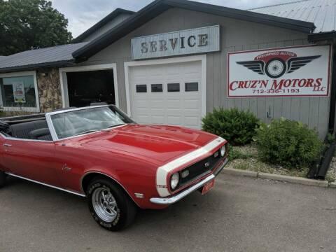 1968 Chevrolet CAMARO CONVERT for sale at CRUZ'N MOTORS - Classics in Spirit Lake IA