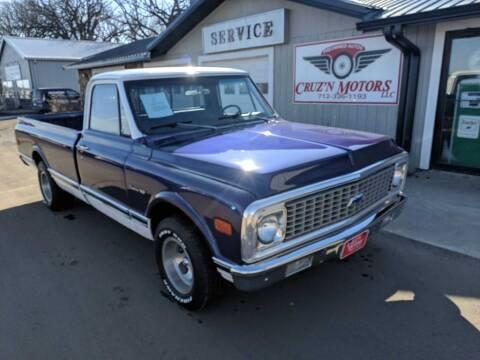 1971 Chevrolet C-10  LONG BOX for sale at CRUZ'N MOTORS - Classics in Spirit Lake IA