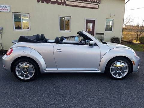 2013 Volkswagen Beetle Convertible for sale at John Huber Automotive LLC in New Holland PA
