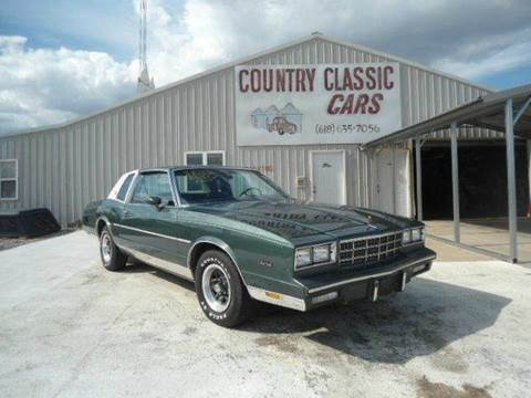 1981 Chevrolet Monte Carlo for sale at Country Classic Cars in Staunton IL